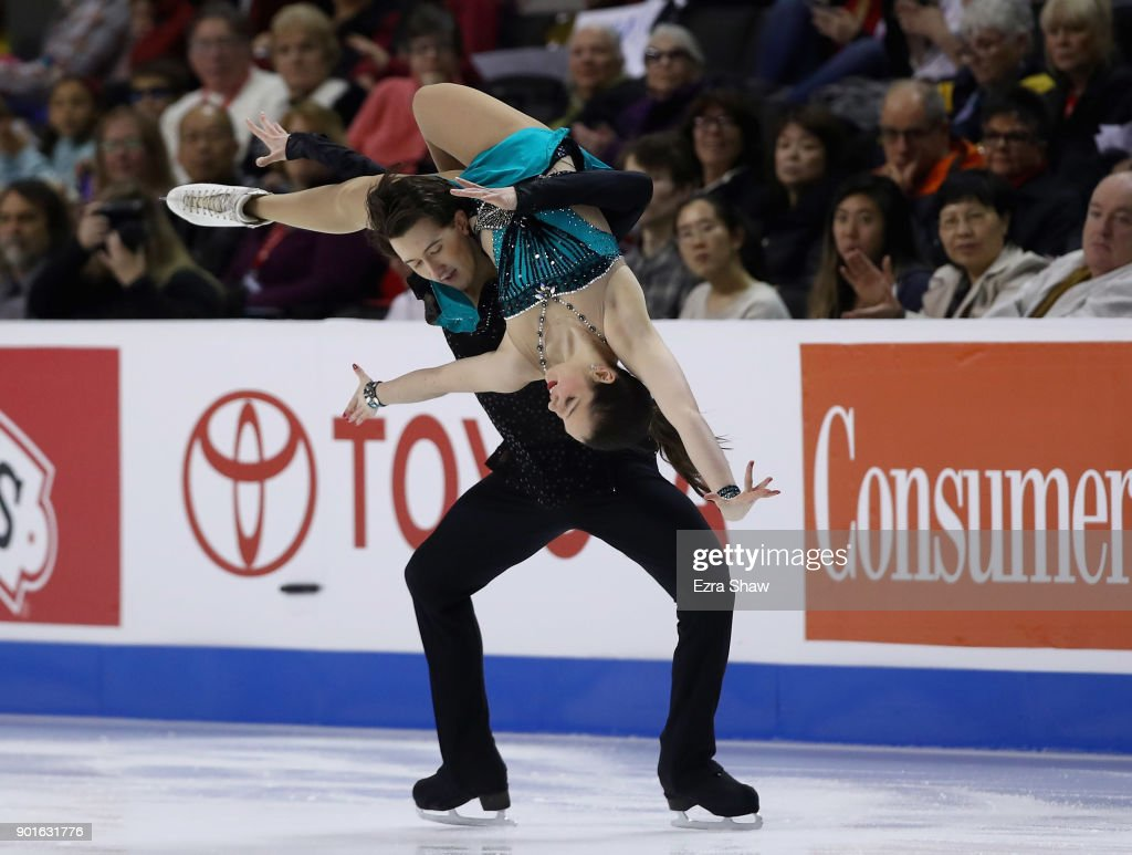 Lorraine McNamara and Quinn Carpenter compete in the Championship Dance Short Program during Day 3 of the 2018 Prudential U.S. Figure Skating Championships at SAP Center at SAP Center at SAP Center on January 5, 2018 in San Jose, California.