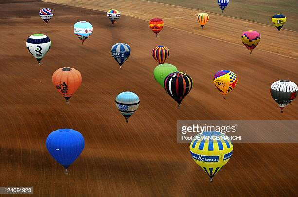 Lorraine Mondial Air Ballons In Chambley Bussieres France On July 27 2007 The biggest meeting of the aerostation on the world The colorful ballons in...