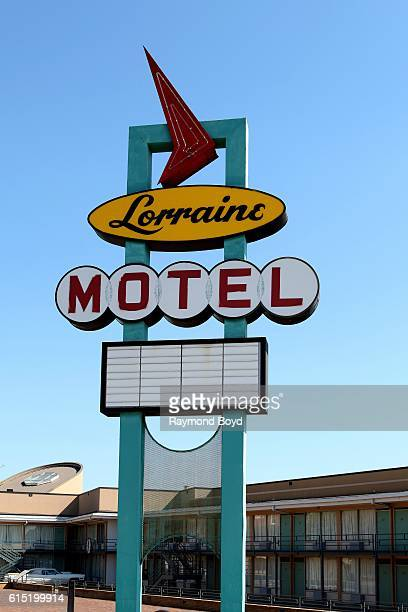 Lorraine Motel signage in Memphis Tennessee on October 3 2016