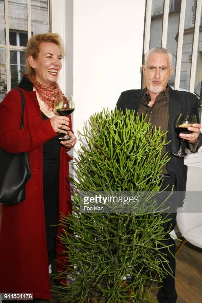 Lorraine Motte and Stan Levy attend the 'Bel RP' 10th Anniversary at Atelier Sevigne on April 10 2018 in Paris France