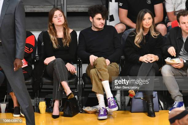 Lorraine Nicholson attends a basketball game between the Los Angeles Lakers and the Atlanta Hawks at Staples Center on November 11 2018 in Los...