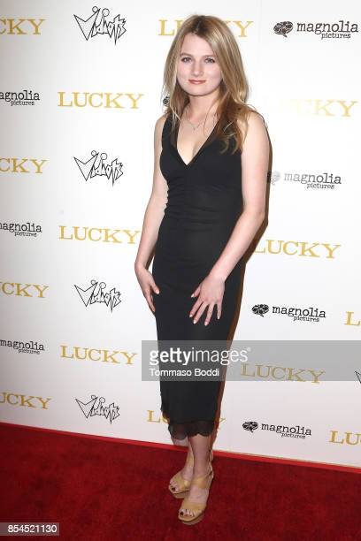 """Lorraine Nicholson attends the Premiere Of Magnolia Pictures' """"Lucky"""" at Linwood Dunn Theater on September 26, 2017 in Los Angeles, California."""
