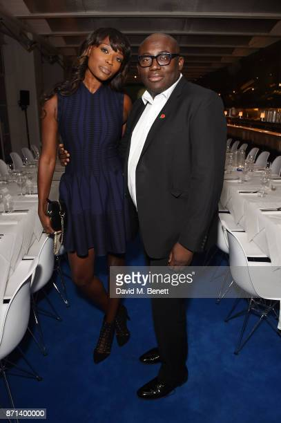 Lorraine Pascale and Edward Enninful attend a dinner hosted by Jonathan Newhouse and Albert Read for Edward Enninful to celebrate the December issue...