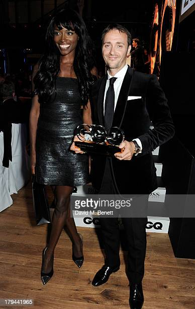 Lorraine Pascale and Jason Atherton winner of the Best Chef award attends the GQ Men of the Year awards at The Royal Opera House on September 3 2013...