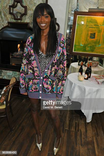 Lorraine Pascale attends a dinner hosted by the Missoni family to launch their new cookbook at Daphne's on May 2, 2018 in London, England.