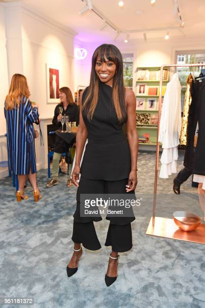 Lorraine Pascale attends the House Of Osman launch party on April 25, 2018 in London, England.