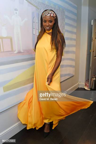Lorraine Pascale attends the House Of Osman launch party supported by Peroni Ambra on April 25, 2018 in London, England.