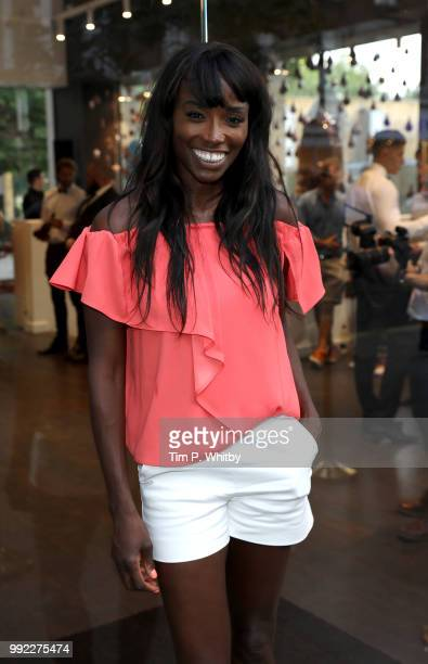 Lorraine Pascale attends the Magnum London Launch at Duke of York Square on July 5, 2018 in London, England.