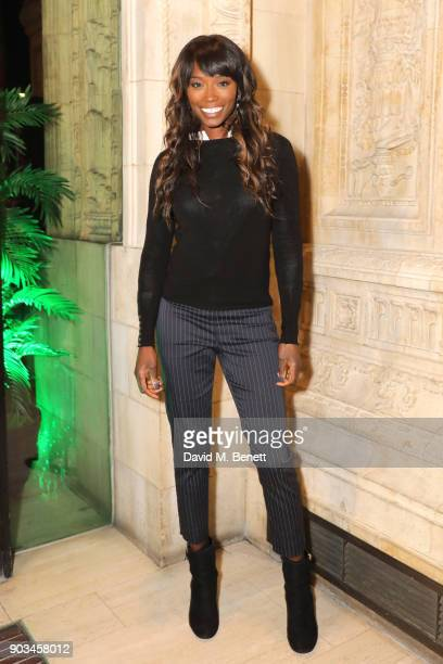 "Lorraine Pascale attends the Opening Night performance of ""Cirque Du Soleil: OVO"" at the Royal Albert Hall on January 10, 2018 in London, England."