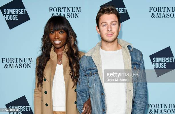 Lorraine Pascale attends the opening party of Skate at Somerset House with Fortnum & Mason on November 14, 2017 in London, England. London's...