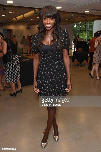 "Lorraine Pascale attends the press night performance of ""Tanguera"" at Sadler's Wells Theatre on July 20, 2017 in London, England."