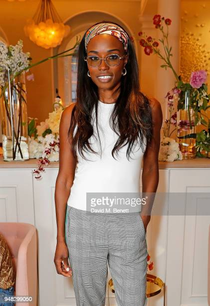 Lorraine Pascale attends the Wildsmith Skin launch dinner cohosted by Skye Gyngell Kathleen BairdMurray at Spring at Somerset House on April 18 2018...