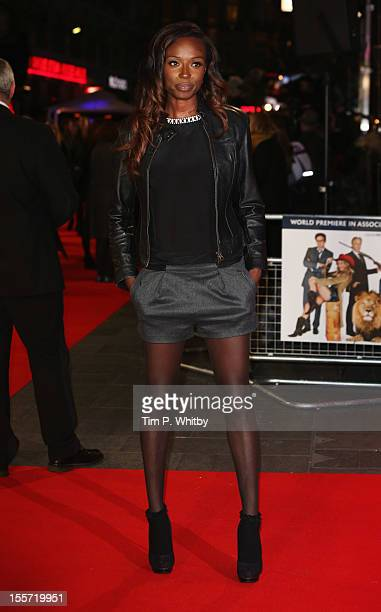 Lorraine Pascale attends the World Premiere of Gambit at Empire Leicester Square on November 7 2012 in London England