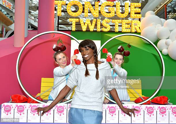 Lorraine Pascale launches the Tongue Twister Food Experience at The Atrium, Westfield on February 26, 2015 in London, England.
