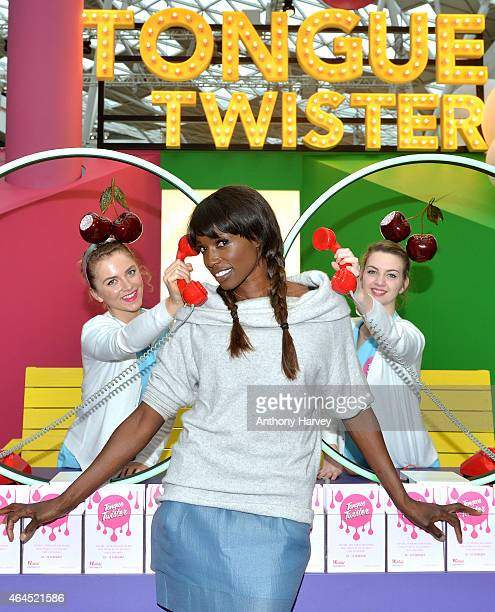Lorraine Pascale launches the Tongue Twister Food Experience at The Atrium Westfield on February 26 2015 in London England