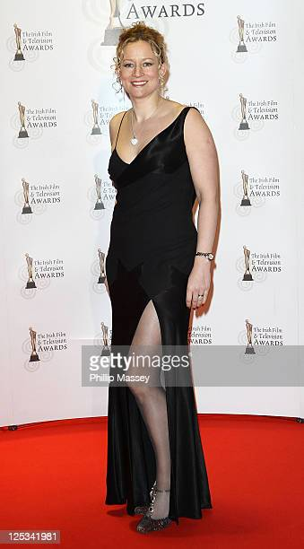 Lorraine Pilkington arrives at the 'Irish Film and Television Awards' at Convention Centre Dublin on February 12 2011 in Dublin Ireland