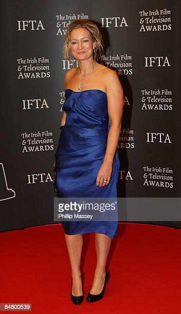 Lorraine Pilkington arrives at the Irish Film TV Awards at the Burlington Hotel on February 14 2009 in Dublin Ireland