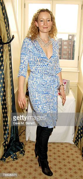 Lorraine Pilkington attends the DoorOnecouk Pamper Party hosted by Pearl and Daisy Lowe at Claridges on March 6 2007 in London England