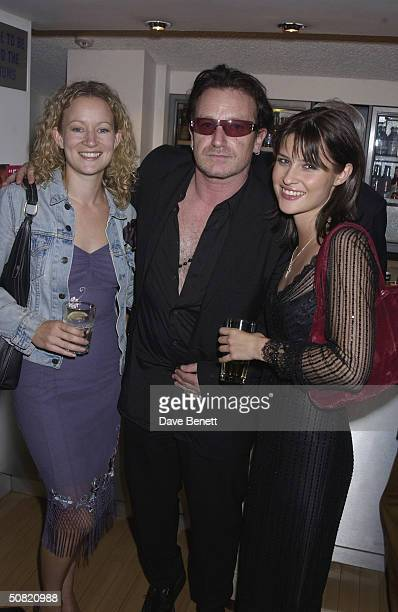Lorraine Pilkington Bono and Emma Catherwood attend the UK Premiere of My Kingdom at The Odeon Cinema on September 23 2002 in London