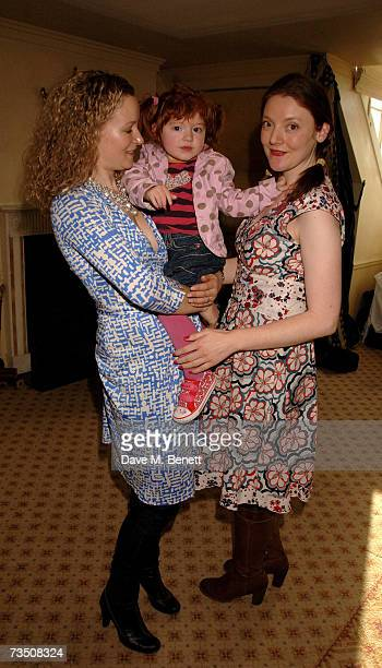 Lorraine Pilkington with guests attend the DoorOnecouk Pamper Party hosted by Pearl and Daisy Lowe at Claridges on March 6 2007 in London England