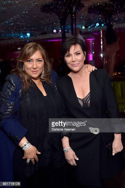 Lorraine Schwartz and Kris Jenner attend Lorraine Schwartz launches The Eye Bangle a new addition to her signature Against Evil Eye Collection at...