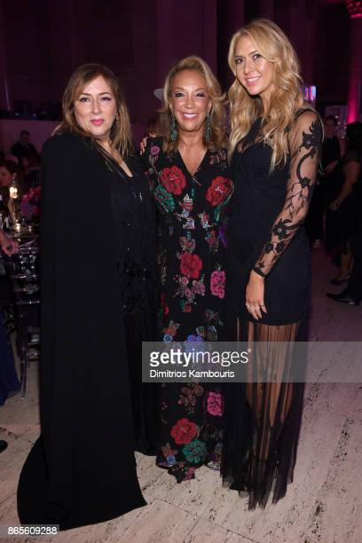 Lorraine Schwartz Founder Denise Rich and Ofira Sandberg attend Gabrielle's Angel Foundation's Angel Ball 2017 at Cipriani Wall Street on October 23...