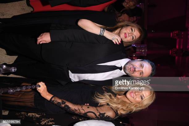 Lorraine Schwartz Ilan Sandberg and Ofira Sandberg attend Gabrielle's Angel Foundation's Angel Ball 2017 at Cipriani Wall Street on October 23 2017...