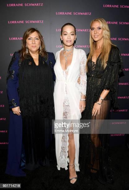Lorraine Schwartz Rita Ora and Ofira Sandberg attend Lorraine Schwartz launches The Eye Bangle a new addition to her signature Against Evil Eye...