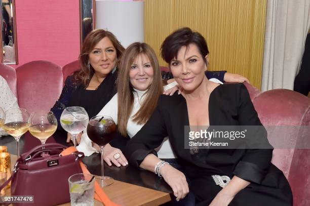 Lorraine Schwartz Shelli Azoff and Kris Jenner attend Lorraine Schwartz launches The Eye Bangle a new addition to her signature Against Evil Eye...