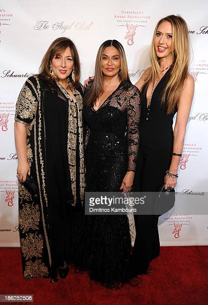 Lorraine Schwartz Tina Knowles and Ofira Sandberg attend Gabrielle's Angel Foundation Hosts Angel Ball 2013 at Cipriani Wall Street on October 29...