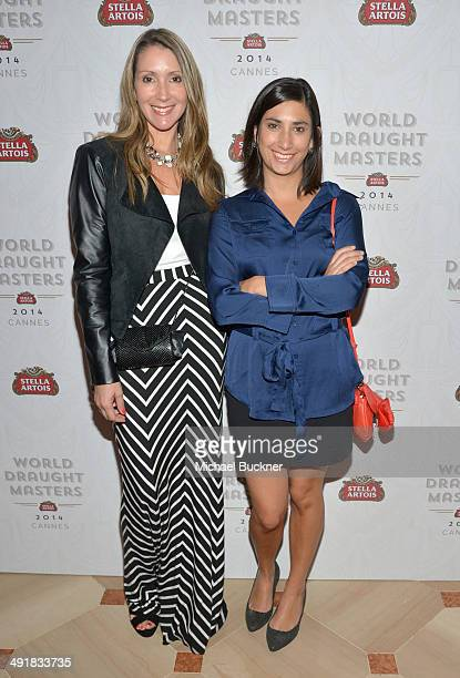 Lorraine Thompson and Isabel Plant attend Stella Artois 2014 World Draught Masters Championship at Cannes Film Festival at the Martinez Hotel on May...