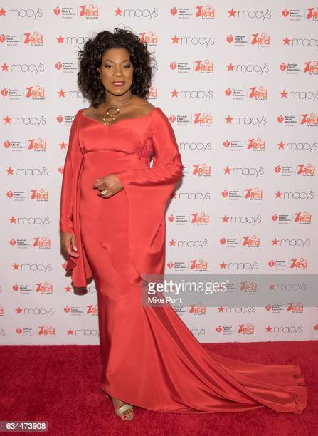 Lorraine Toussaint attends the American Heart Association's Go Red for Women Red Dress Collection 2017 during New York Fashion Week at Hammerstein...