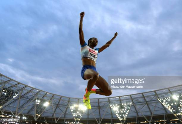 Lorraine Ugen of Great Britain competes in the Women's Long Jump final during day eight of the 16th IAAF World Athletics Championships London 2017 at...