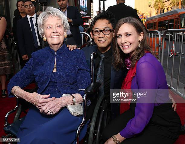 Lorraine Warren Filmmaker James Wan and Vera Farmiga attend the Los Angeles Film Festival The Conjuring 2 Premiere at TCL Chinese Theatre IMAX on...