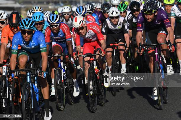 Lorrenzo Manzin of France and Team Total Direct Energie & Attilio Viviani of Italy and Team Cofidis during the 34th Clásica de Almeria 2021 a 183,3km...