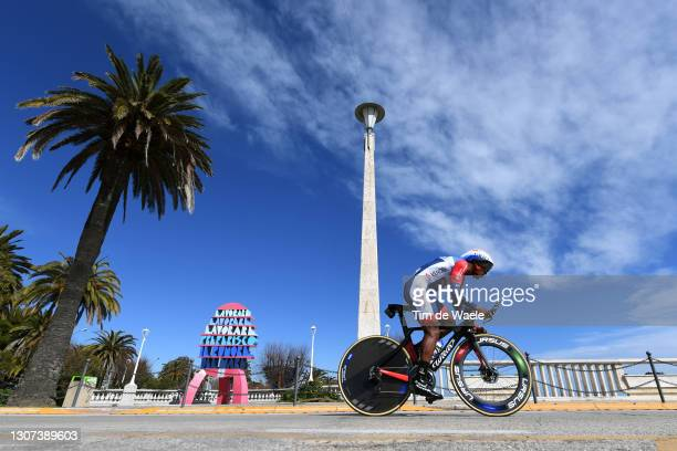 Lorrenzo Manzin of France and Team Total Direct Energie during the 56th Tirreno-Adriatico 2021, Stage 7 a 10,1km Individual Time Trial stage from San...