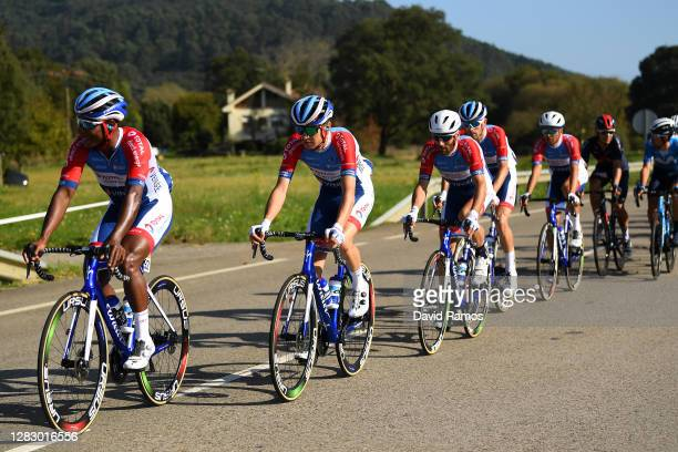 Lorrenzo Manzin of France and Team Total Direct Energie / Romain Sicard of France and Team Total Direct Energie / Jonathan Hivert of France and Team...