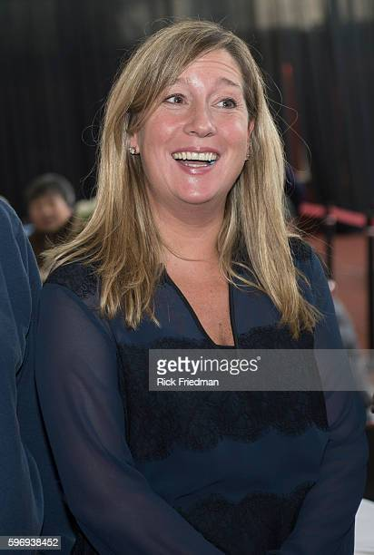 Lorrie Higgins girlfriend of Boston Mayor elect Martin J Walsh the day before Walsh is sworn in as Boston's new mayor at a seniors luncheon held at...