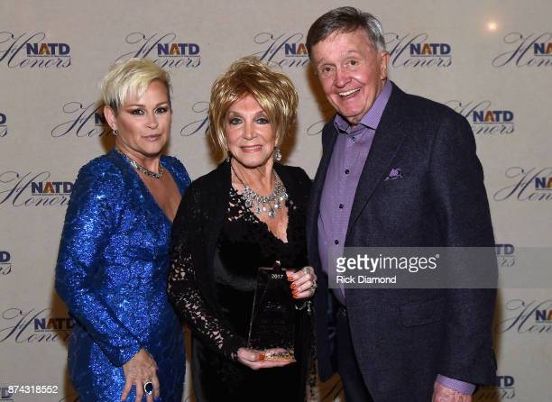 Lorrie Morgan Jeannie Seely and Bill Anderson attend the 2017 NATD Honors Gala at Hermitage Hotel on November 14 2017 in Nashville Tennessee