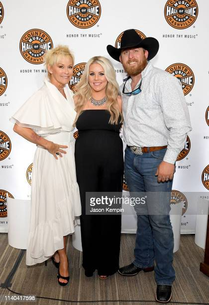 Lorrie Morgan Kristen Gann and Jesse Keith Whitley attend Country Music Hall of Fame and Museum's new exhibit Still Rings True The Enduring Voice of...