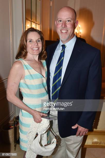 Lorrie Saporita and Mark Saporita attend Katrina and Don Peebles Host NY Mission Society Summer Cocktails at Private Residence on July 7 2017 in...