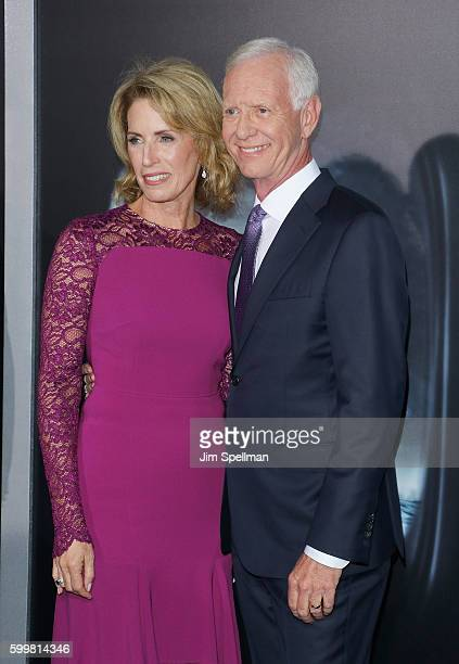 """Lorrie Sullenberger and retired airline captain Chesley """"Sully"""" Sullenberger attend the """"Sully"""" New York premiere at Alice Tully Hall, Lincoln Center..."""