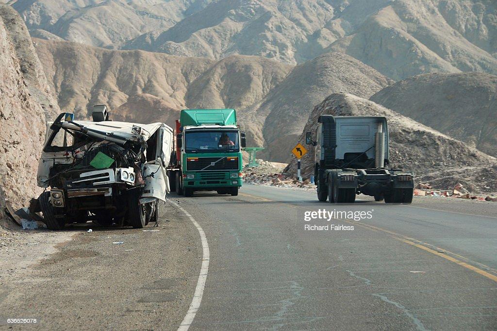 Lorries on the Panamerican Highway : Stock Photo