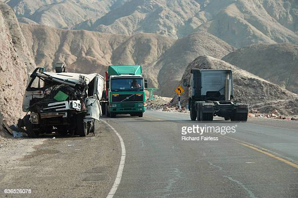 lorries on the panamerican highway - crash photos stock photos and pictures