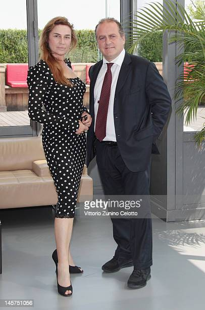 Lory Del Santo and Pascal Vicedomini attend the 2012 Ischia Global Fest photocall at Terrazza Martini on June 5, 2012 in Milan, Italy.