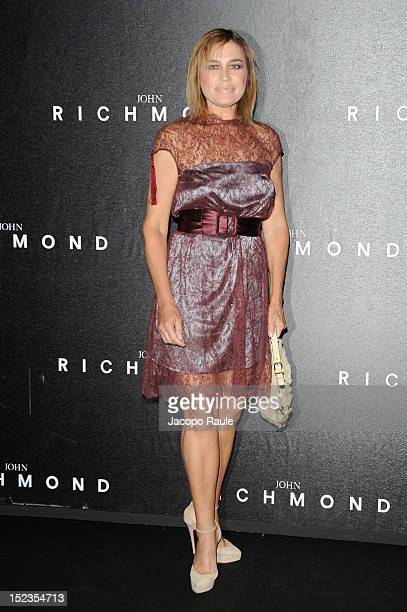Lory del Santo attends the John Richmond Spring/Summer 2013 fashion show as part of Milan Womenswear Fashion Week on September 19, 2012 in Milan,...