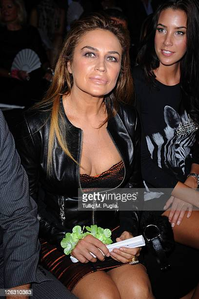 Lory Del Santo attends the Philipp Plein Urban Jungle Spring/Summer 2012 fashion show as part Milan Womenswear Fashion Week on September 24, 2011 in...