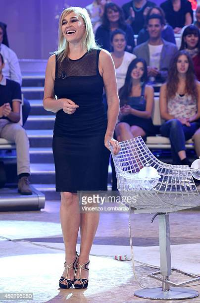 Lory Del Santo attends the 'Quelli che il Calcio' TV Show on September 28, 2014 in Milan, Italy.