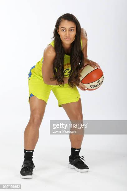 Loryn Goodwin of the Dallas Wings poses for a portrait on May 4 2018 at College Park Center in Arlington Texas NOTE TO USER User expressly...