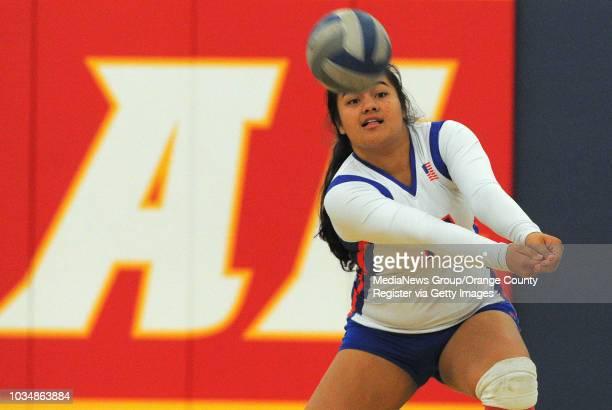 LOS ALAMITOS Los Alamitos girls volleyball handed Newport Harbor a 30 sweep Wednesday Mikki Sale bumps the ball for Los Al